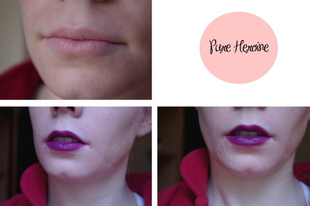 pure heroine on lips